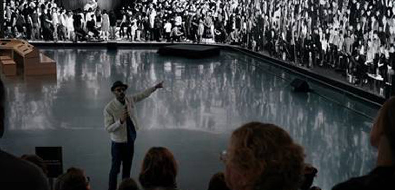 Enormous Digital Display Showcases Work Of Renowned Artist