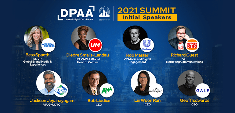 Iconic Brands – American Express, Clorox, Burger King, Unilever announced as initial speakers for DPAA Video Everywhere Summit, October 12 at Chelsea Piers, NYC